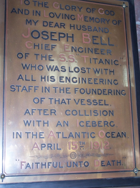 Joseph Bell Memorial St Faith's Church Crosby Merseyside