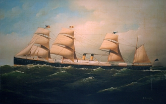 RMS Britanic Maiden Voyage 25.06.1874