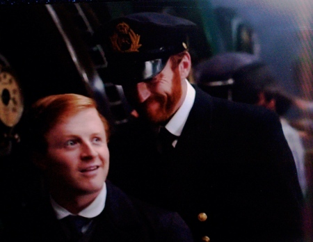 Joseph and son Frank Bell, from film 'SAVING THE TITANIC.