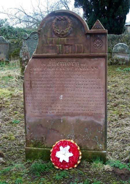 Joseph Bell memorial wreath 15th April 2015