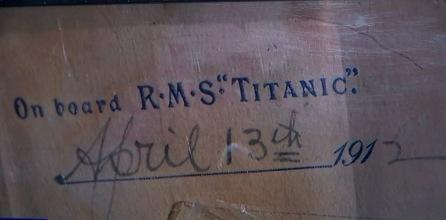 Last Titanic letter 1912