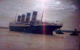 Titanic leaving Southampton 1912
