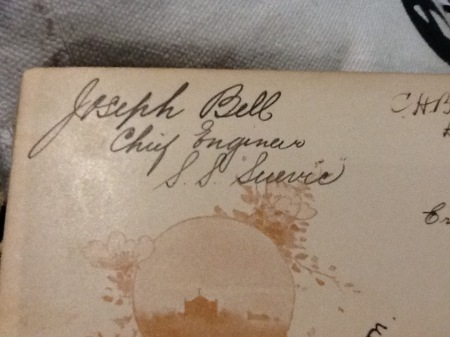 Autograph Joseph Bell  SS Suervic